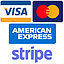 Stripe (Visa, MC, AMEX)